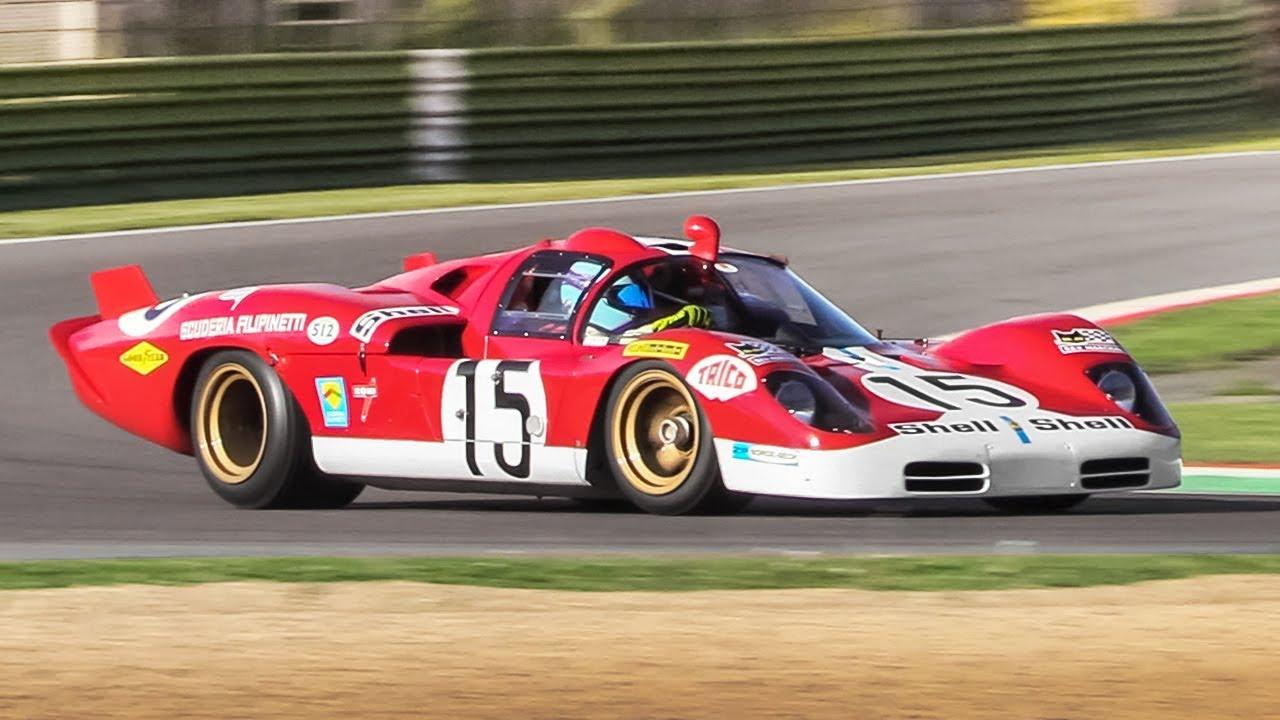1970 Ferrari 512 S Coda Lunga Accelerations Fly Bys Pure V12 Sound Youtube