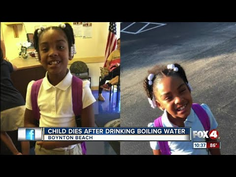 Girl 8 years old drinks boiling water on a dare and died