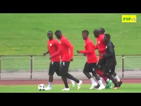 Première séance d'entraînement des Lions du Sénégal à Vittel
