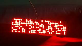 Parola for arduino 16 rows display demo led matrix max7219