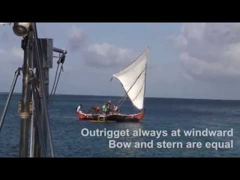 Big Sailing Canoes In Micronesia
