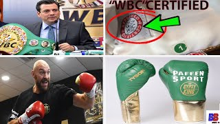 BREAKING: WBC & PAFFEN SPORT GLOVES ARE PARTNERS, REASON FOR DEFENDIN TYSON FURY OVER DEONTAY WILDER