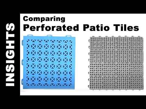 Perforated Patio Tile Comparison - StayLock Tiles vs. Patio Outdoor Tiles