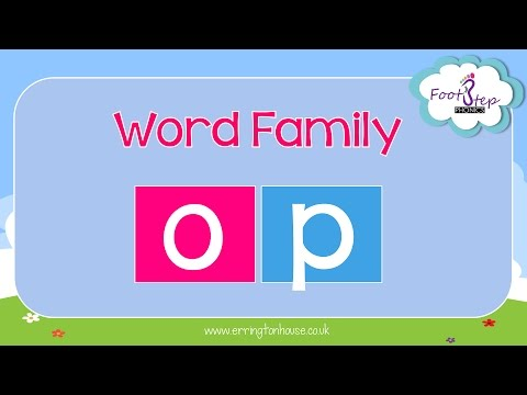 Word Family Op Phonics Song For Kids Jack Hartmann