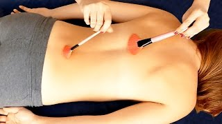 ASMR Massage Spa Back Tickling, Tracing, Scratch, Brushing, Binaural Ear to Ear Whisper