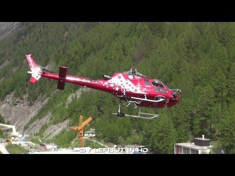 [AIR ZERMATT] Spektakulärer Start und Landung | Eurocopter AS 350 Ecureuil