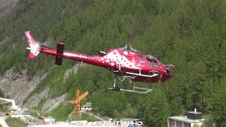 [AIR ZERMATT] Spektakulärer Start und Landung | Eurocopter AS 350 Ecureuil