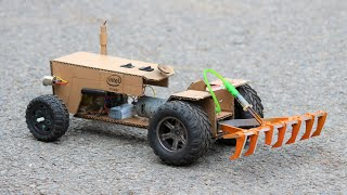 How To Make a Tractor - RC Tractor From Cardboard