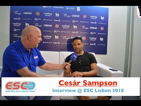 Cesár Sampson (Austria) - interview Eurovision Lisbon 2018 | ESC Radio