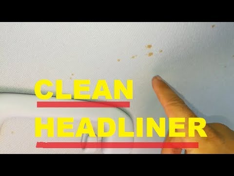 ▶️Clean a Car's Headliner ▶️Safely ( w/Helpful Tips) HOW TO CLEAN Vehicle's Interior Roof
