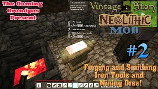 Vintage Story - Neolithic Mod - Multiplayer #2: Forging & Smithing Iron Tools & Mining Ores!