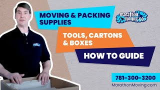 Moving & Packing Supplies, Tools, Cartons & Boxes  How to guide