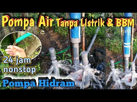 Uji Coba Pompa Air Tanpa Listrik Dan Bbm Pompa Hidram Pipa Pvc 2 Inch Double Power Youtube