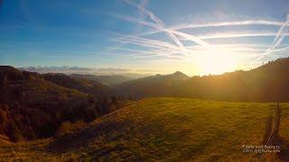 4K Lüderenalp Emmental  SWITZERLAND アルプス山脈 aerial view