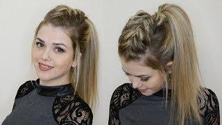 видео Как заплести челку в косичку
