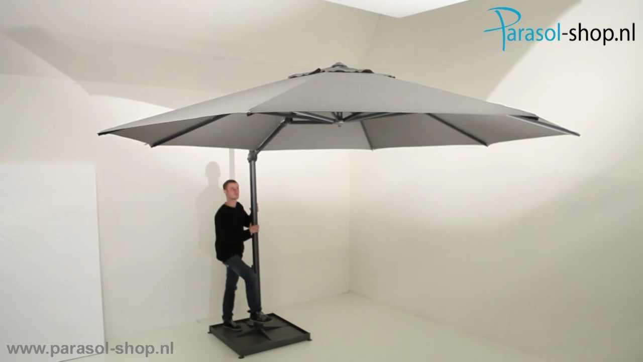 Parasol 350 Cm 4seasons Parasol Siesta 350cm Charcoal Product Video