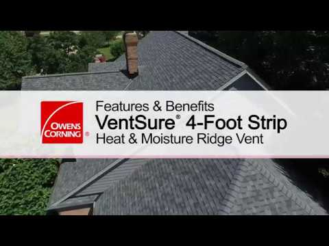Product Guide Ventsure 4 Foot Strip Heat Moisture Ridge Vent Youtube