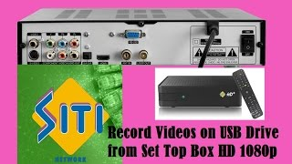How to Record Shows in Pen Drive from Set Top Box