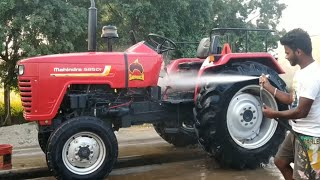 Mahindra 585 power tractor presser water washing  Mahindra 585 tractor  Come From Village 