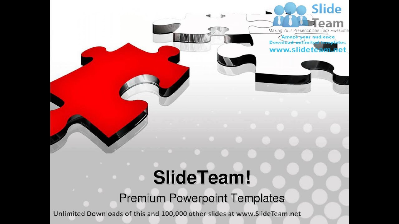 Red Puzzle Piece Business PowerPoint Templates Themes And ...