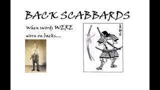 Back Scabbards in China and Japan: When swords WERE worn on backs