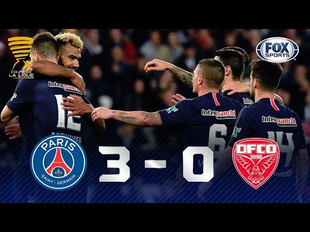 Melhores momentos de PSG 3 x 0 Dijon pela Copa da França