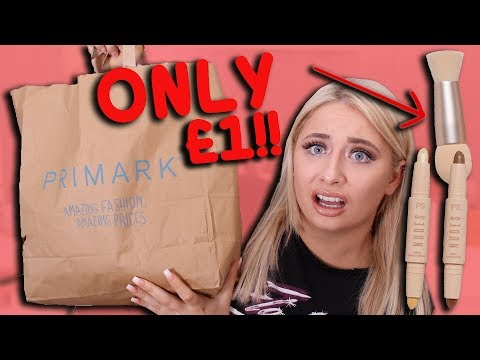TESTING *NEW* PRIMARK MAKEUP! 😭😱FULL FACE KKW DUPE!? Cheap Products tested!!!😱