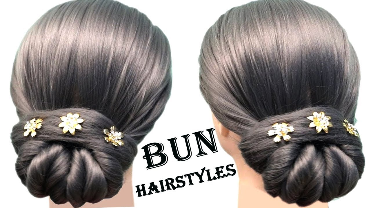 new bun hairstyle for wedding and party ☆ trending hairstyle ...