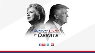 Tercer debate presidencial: Clinton vs. Trump en español