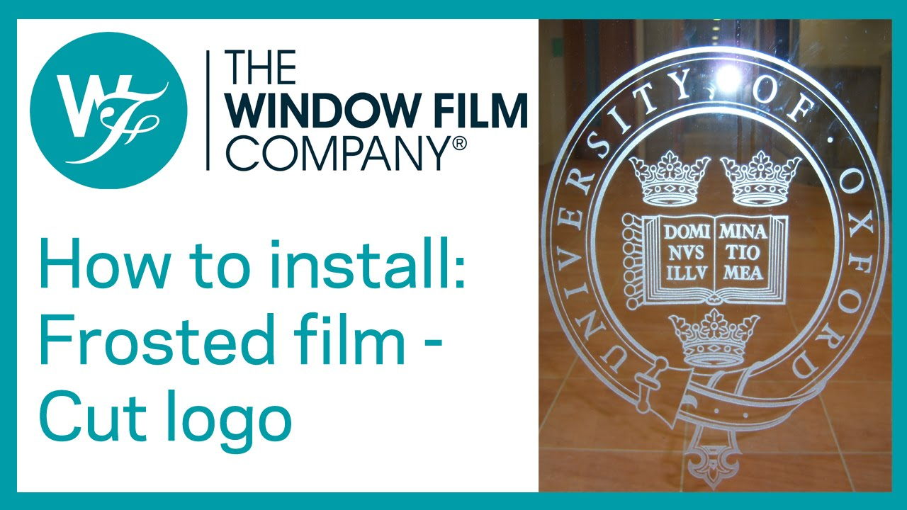How to install a frosted window film company logo onto for Window company
