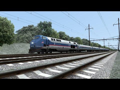 Train Simulator 2016 HD: Amtrak Pennsylvanian Train 42 w/ Borrowed Metro-North GE P32AC DM 213