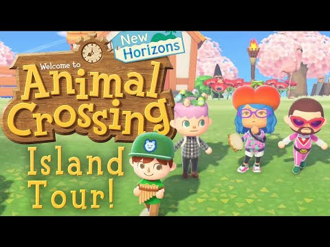 Animal Crossing New Horizons - Island Tour! (Online Multiplayer Gameplay)