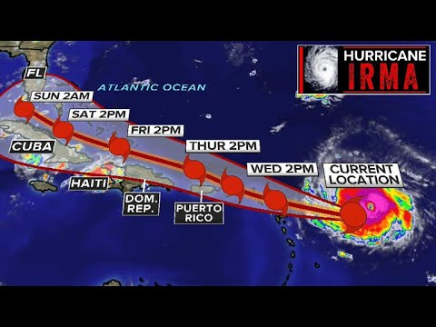 Hurricane Irma reaches Category 5, with winds of 180 mph