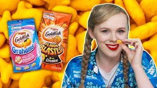 Irish People Try American Goldfish Crackers