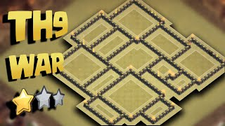 Town Hall 9 New War Base Anti First Hit + Proof Replays (TH9 Anti 3 Star) Update 2016