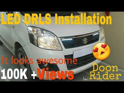 How to install LED DRLs(daytime running lights) in Maruti Suzuki WagonR