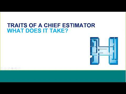 How to become a Chief Estimator