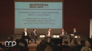 Smart TV - Smart Advertising: What's in it for brands? - Podiumsdiskussion
