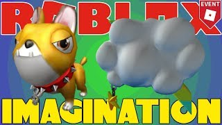 COMO obter Momo Dog e Cloud Backpack-moda famosa-evento IMAGINATION 2018-ROBLOX