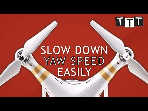 How to adjust Yaw Speed - DJI Phantom 3 - Gain and Expo - 동영상