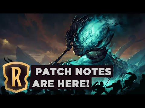 PATCH NOTES ARE HERE! | Legends Of Runeterra Patch 0.9.0