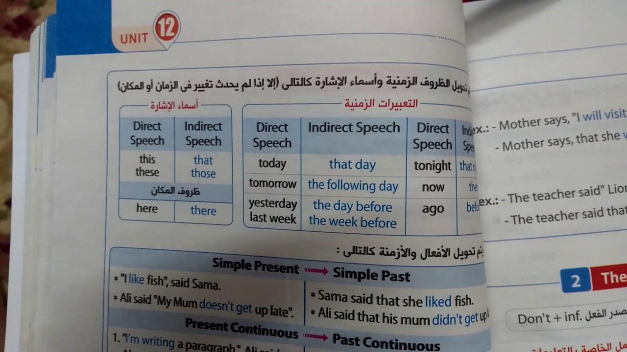 المعاصر الوحدة 12 الصف الثالث الاعدادى الترم الثانى لغة انجليزية