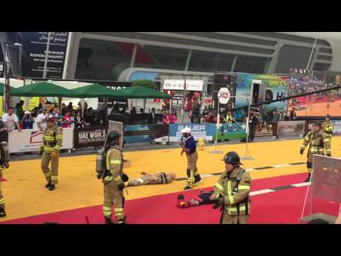World Fire Fighter Challenge 2016, Abu Dhabi. Lithuania vs Poland