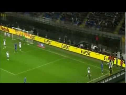 Ignazio Abate wonderful goal Italy 1-1 Germany 15/11/2013