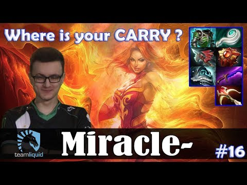Miracle - Lina MID | Where Is Your CARRY ? | Dota 2 Pro MMR Gameplay #16