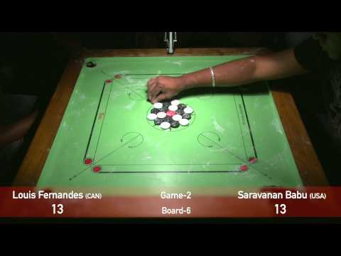 US OPEN 2015 Carrom Championship Singles Finals Game2