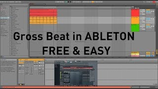 HOW TO GET HALF SPEED GROSS BEAT EFFECT ABLETON  FREE QUICK EASY // NO VST NEEDED