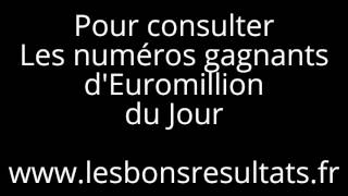 Résultats, Tirages, Gagnants EuroMillion My Million. Dès 20h45 , Mardi et Vendredi