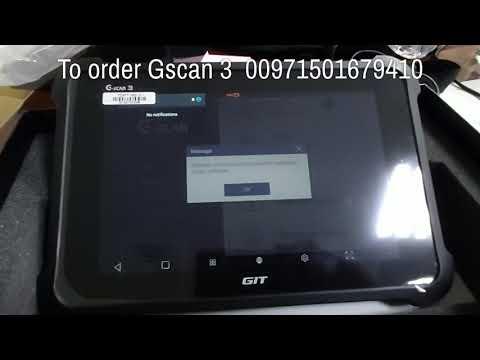 English- UAE -Sharjha Dubai Gscan3 car scanner and diagnostic tool جهاز جيسكان ٣ ل فحص السيارات جي