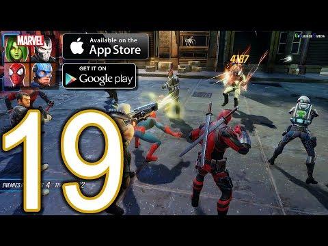 MARVEL Strike Force Heroes Android iOS Walkthrough - Part 19 - Deadpool Alliance Raid Spicy